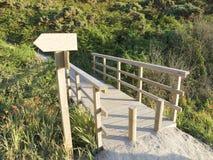 Wooden walkway signpost Royalty Free Stock Photo