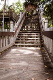 Wooden walkway stairs Royalty Free Stock Images