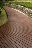 Wooden walkway. And terrace outdoor Stock Photo