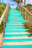 Wooden Walkway to the sandy beach Royalty Free Stock Image