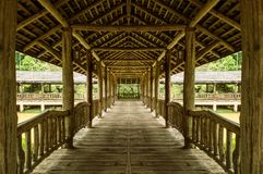 Wooden Walkway used as background and texture. stock photography