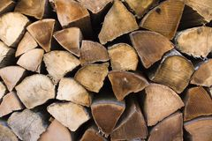 Wooden wall. Wooden blocks arranged in a way to present wall Stock Images