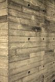 Wooden Wall. In a park Royalty Free Stock Photos