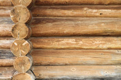 Wooden wall. Wood constructed wall of an old style cabin Royalty Free Stock Photography