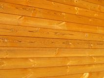 Wooden wall. Horizontal view Royalty Free Stock Images