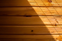 Wooden wall background in a morning light Stock Image
