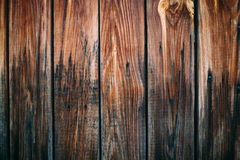 Wooden wall background or texture. Old brown boards Stock Images