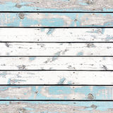 Wooden wall background or texture, The old walls are painted blu Stock Image