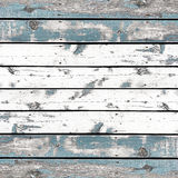 Wooden wall background or texture, The old walls are painted blu Stock Photos