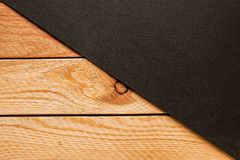 Wooden wall background with two parts Stock Photography