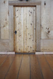 Wooden wall and battens Stock Image