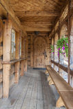 Wooden door to Jaszczurowka chapel - Zakopane, Pol Royalty Free Stock Photography