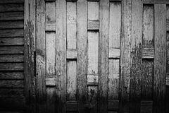 Wooden wall. In black and white tone Royalty Free Stock Photo