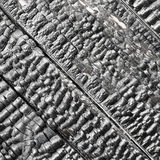 Wooden wall blackened after fire - texture Royalty Free Stock Images