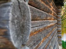 Wooden wall from boards of the house Royalty Free Stock Photography