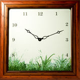 Wooden wall clock Stock Photos