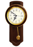 Wooden wall clock Stock Photography