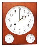 Wooden wall clock Royalty Free Stock Photo