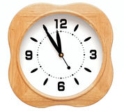 Wooden wall clock Royalty Free Stock Image