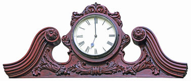 Wooden wall clock Royalty Free Stock Images