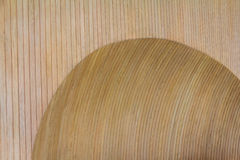 Wooden Wall Concave Stock Photography