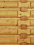 Wooden wall corner Royalty Free Stock Image