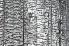 Wooden wall damaged by fire Stock Image