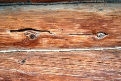 Wooden wall detail. Royalty Free Stock Photography
