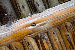 Wooden wall details Royalty Free Stock Images