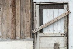 Wooden wall and door Stock Photo