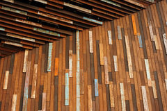 Wooden wall entrance Royalty Free Stock Photography