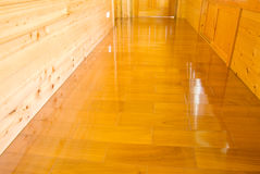 Wooden wall and floor Royalty Free Stock Photo