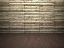 Wooden wall and floor. Abstract background of textured timber wall and wooden floor Royalty Free Stock Photos