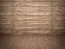 Wooden wall and floor. Abstract background of textured timber wall and wooden floor Stock Photos