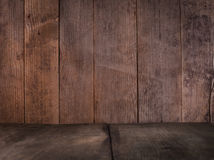 Wooden wall and floor Royalty Free Stock Photography
