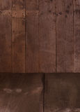 Wooden wall and floor Royalty Free Stock Images