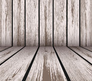 Wooden wall and floor Stock Image