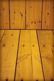 Wooden wall and floor - natural background Royalty Free Stock Photography