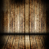 Wooden wall and floor Stock Photography