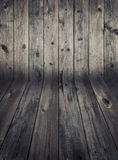 Wooden wall and flooring. Stock Photo