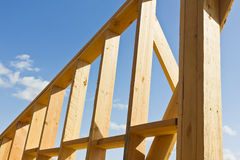 Wooden Wall Frame Royalty Free Stock Photography