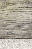 Wooden wall and granite floor Stock Photo