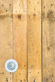 Wooden wall have lamp Royalty Free Stock Image