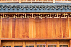 Wooden wall of the house Royalty Free Stock Image