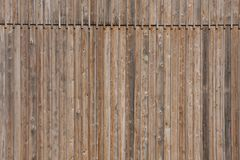 Wooden wall of a hut. Solid background of wooden planks on a hut in south germany Royalty Free Stock Images