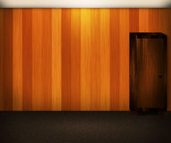 Wooden Wall Interior Background Stock Photo