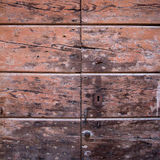 Wooden wall with keyhole for your design Stock Photos