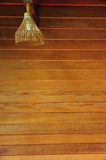 Wooden wall and lamp Stock Photos