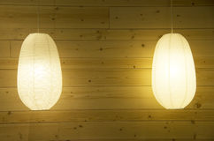 Wooden wall lighting lamp interior Royalty Free Stock Photography