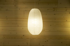 Wooden wall lighting lamp interior Stock Photography